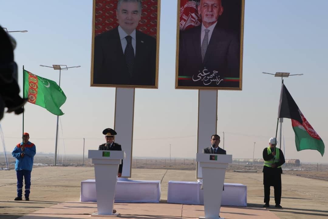 مراسم افتتاح خط آهن آقینه- اندخوی به روایت تصویر!